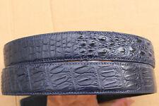 CROCODILE Leather Skin Men/'s Belt #JY2202 Blue Genuine Alligator