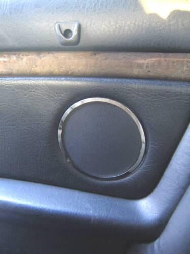 D Audi 80 90 B4 Chrom Ringe für Lautsprecher hinten Edelstahl poliert