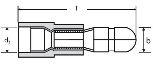 100 paar Rundsteckverbinder GELB für 4,0-6,0mm² Kabel Steckverbinder
