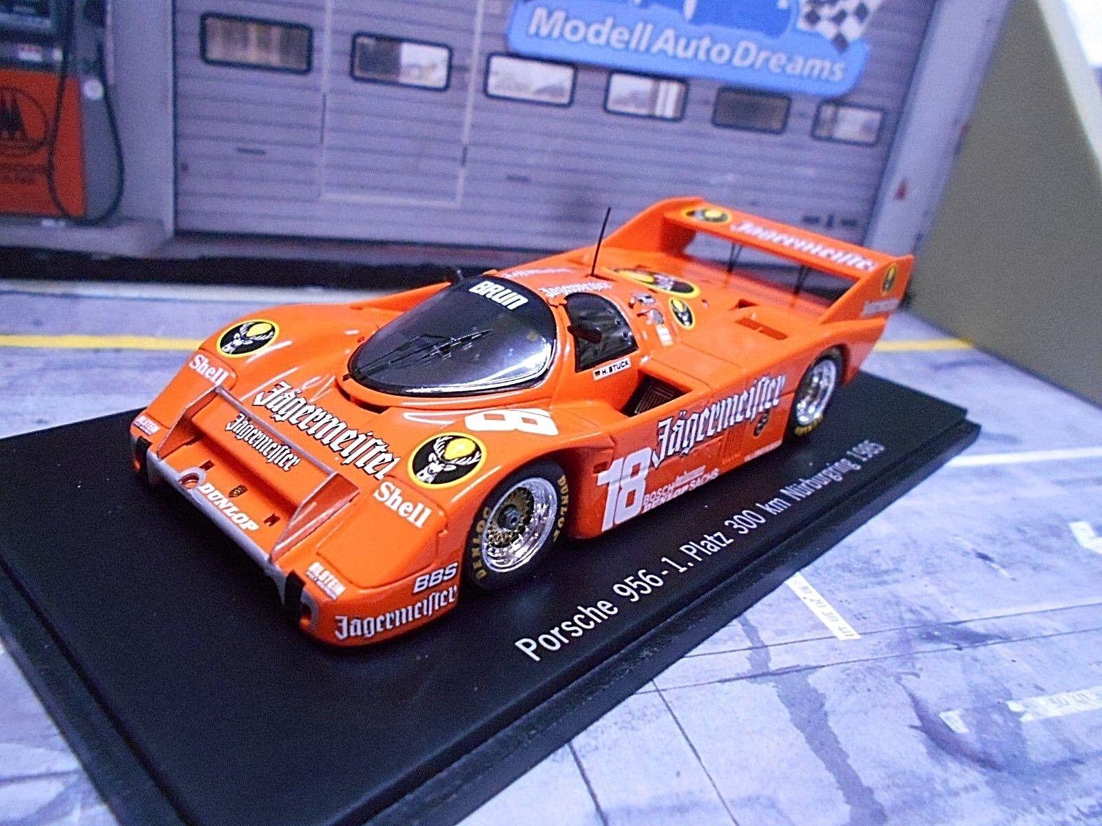 Porsche 956 K Nurburgring 1985 #18 stuc Win Jagermeister Brun Limit Spark 1:43   En Ligne Outlet Store