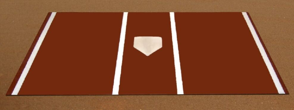 Pro Turf Home Plate Mat - 7' x 12' Clay