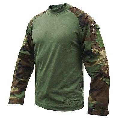 Woodland Camo Tactical Response Military Combat Shirt by TRU-SPEC 2560