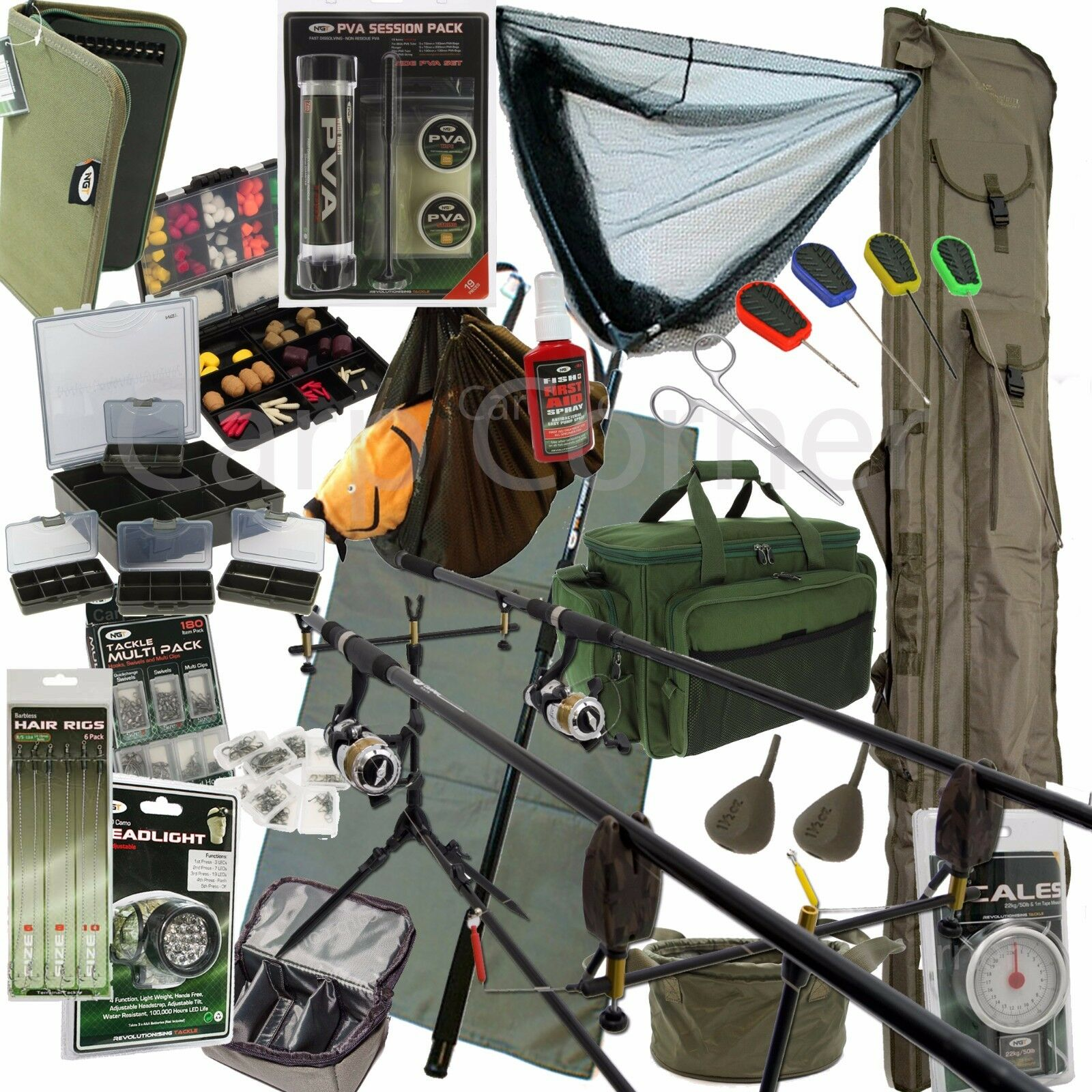 Komplett Karpfenangeln Anordnung Anordnung Anordnung + 3 Ruten Rollen Alarm Koffer Gerät Reisetasche d2b5e9