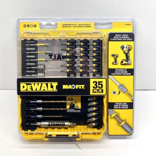 DeWALT 35 PC SCREWDRIVING BIT SET Screw Bits Impact Drive Guide Nut Driver Drill