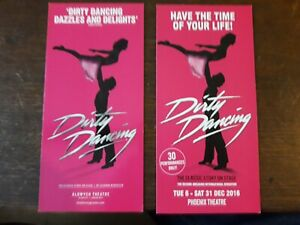2-DIFFERENTS-FLYERS-FLYER-MUSICAL-WEST-END-LONDON-DIRTY-DANCING
