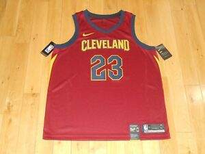 super popular 636ee 39ce3 Details about New 2018 Nike LEBRON JAMES CLEVELAND CAVALIERS 23 NBA  Swingman Team JERSEY 52 XL