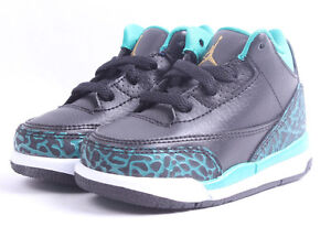 4fa324fcdaff Air Jordan 3 Retro GT   654964 018 Teal   Gold Toddler SZ 4 - 10 ...