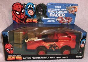 Vintage 1985 Secret Spider-man Racer avec Web Winch copain L Marvel Comics