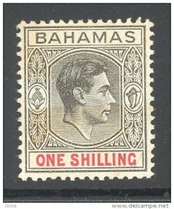 BAHAMAS, 1938 1/- (chalky thick paper, SG 155) VLMM, cat £27 (toned) (D) - Nieuwkoop, Nederland - Guaranteed chalky paper. grey-black and carmine. Fine undamaged mint with clear smooth toned gum and invisible hinge remain. Postage: €0.99 plus €0.15 for each purchased additional item. Any defects not seen from the scan will b - Nieuwkoop, Nederland