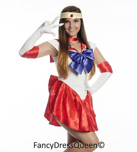 Image is loading Sailor-Mars-Cosplay-Sailor-Moon-Costume-Fancy-Dress-  sc 1 st  eBay & Sailor Mars Cosplay Sailor Moon Costume Fancy Dress Outfit S-4XL UK ...
