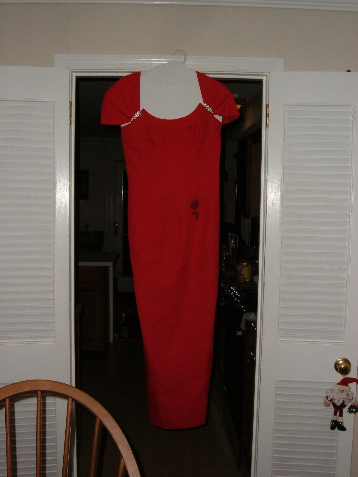 1990's women's size 8 Vintage floor-length old bridesmaid dress Strawberry red