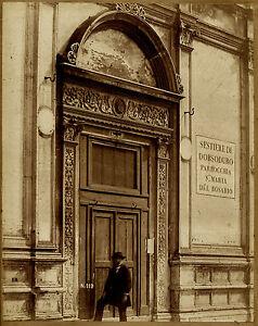 Photographie-albuminee-Venise-Sestiere-di-Dorsoduro-Personnage
