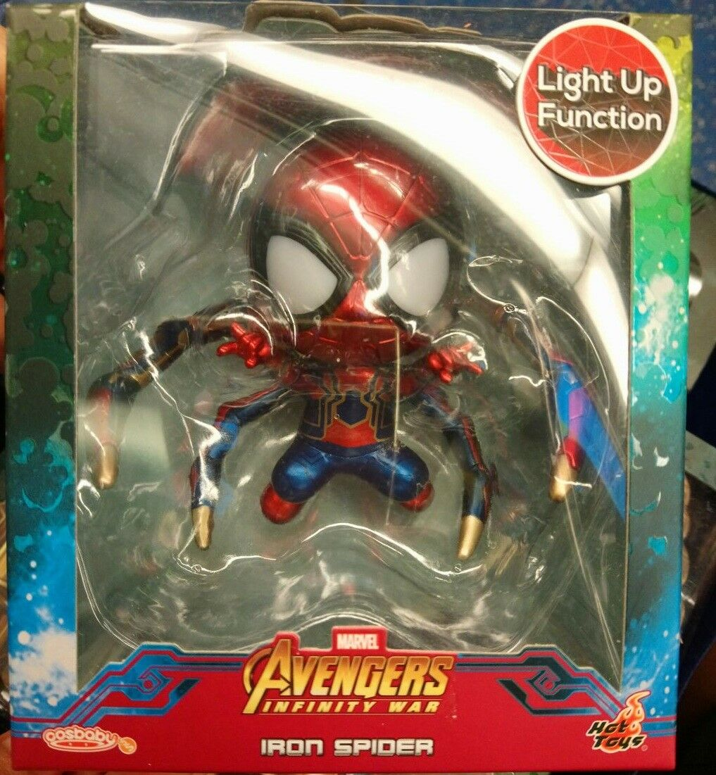 Hot toys Cosbaby Avengers Infinity War Iron Iron Iron Spider Man Light Up Crawling Ver. 2bffe0