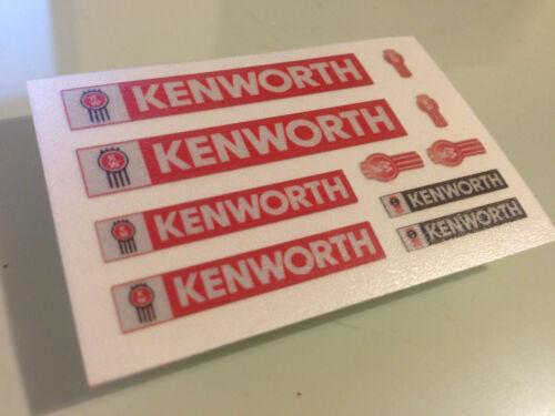 RED CHROME//REFLECTIVE stickers FREIGHTLINER GLOBELINER TAMIYA 1//14 KENWORTH