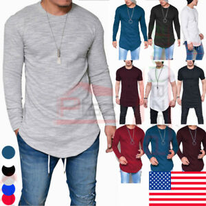 920b51486a7 Fashion Men s Slim Fit O Neck Long Sleeve Muscle Tee T-shirt Casual ...