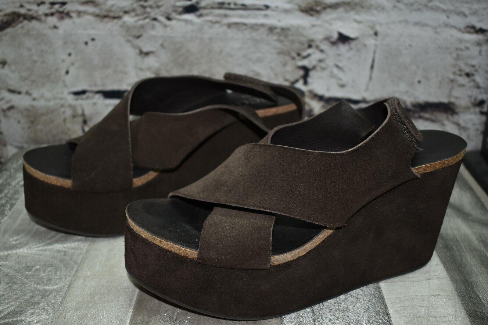 Pedro Garcia EU 38.5 US 8.5 Marian Marronee Leather  Sue Platform Sandals Heels  colorways incredibili