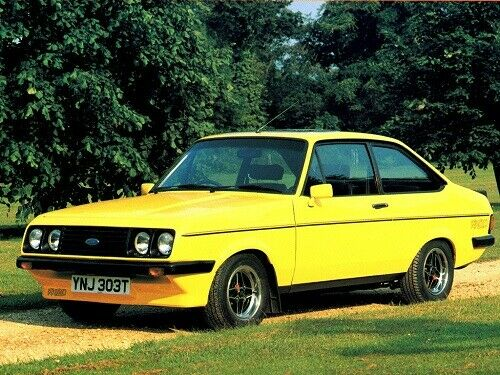 FORD ESCORT MKII RS2000 SIGNAL YELLOW RETRO POSTER PRINT CLASSIC 80/'s ADVERT A3