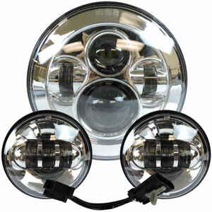 7-Inch-Motorcycle-LED-Headlight-with-4-5-Inch-30W-Fog-Light-for-Harley-Road-King