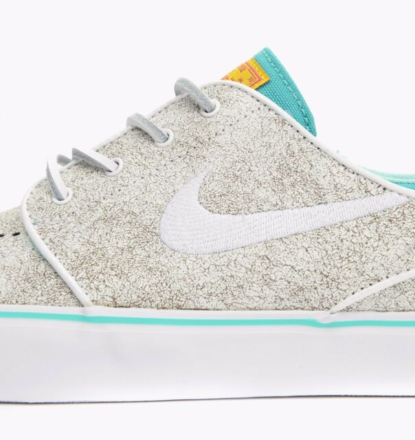 549 Nike ZOOM STEFAN JANOSKI ELITE White Black Hyper Jade Discounted Mens Shoe