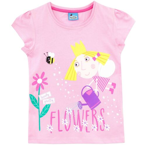 Girls Ben and Holly T-shirtBen /& Holly/'s Little Kingdom TeeGirls Holly Top