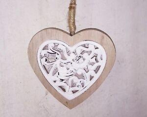 Legno Bianco Vintage : Clayre eef cuore legno bianco cuore angelo shabby vintage casa