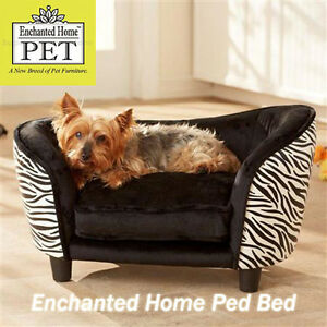 Enchanted Home Dog Pet Cat Ultra Plush Snuggle Bed Lounge Pet Furniture Zebra Ebay