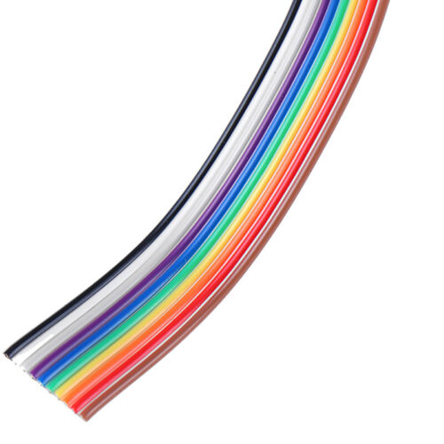 5 meters//lot Ribbon Cable 10 WAY Flat Cable Color Rainbow Ribbon Cable Wire/_ja