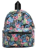 Disney Lilo & Stitch Floral Mini Faux Leather Backpack School Book Bag Gift