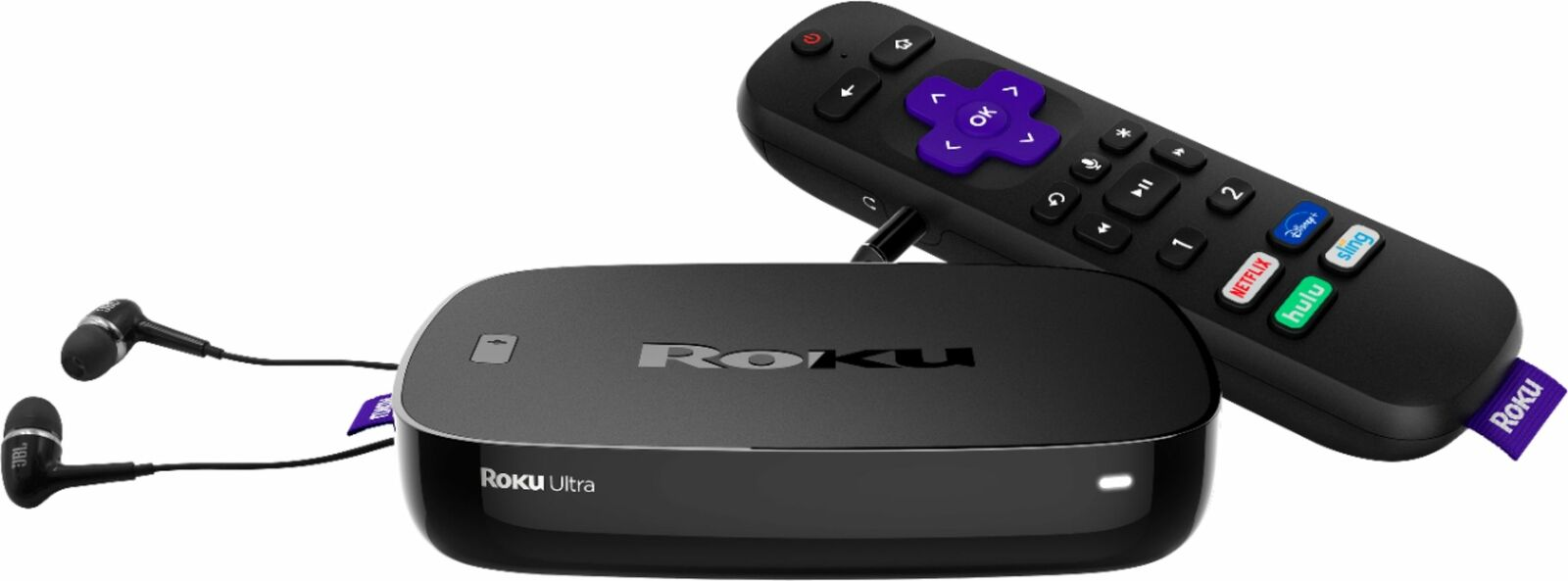 Brand New Roku Ultra Streaming Media Player 4K/HDR with Premium JBL Headphones brand jbl media new player premium roku streaming ultra with