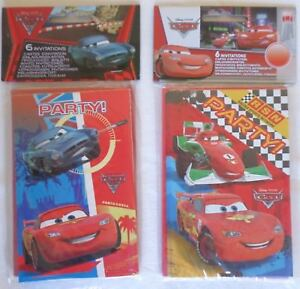 Image Is Loading Disney Pixar Party Invitations Amp Envelopes 6PK Cars