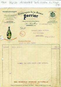 Dept-30-Les-Bouillens-Vergeze-Belle-Entete-Celebre-Source-Perrier-17-09-1928
