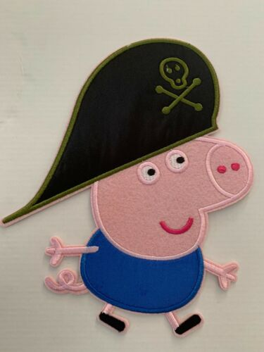Peppa Pig George Pig Cartoon Huge Large Iron on Applique Patch