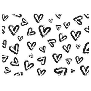 Details About Unique High Quality Black White Heart Design Gift Wrapping Paper A3 Gp247