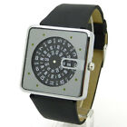 Black Quartz Sport Wrist Watch Rubber Band Turntable Big Dial Digital Men Q0802