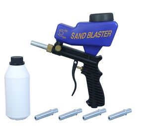 LEMATEC-Sandblaster-gun-with-Sand-Canned-four-nozzle-Air-Power-Sandblasting-tool