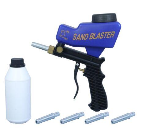 LEMATEC Sandblaster Gun avec du sable en conserve quatre Buse Air Power sableuse Outil