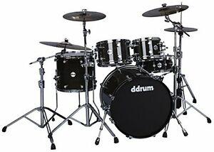 ddrum-REFLEX-ELT-522-TBK-Elite-5-Piece-Shell-Pack-Kit-Trans-Black-Lacquer