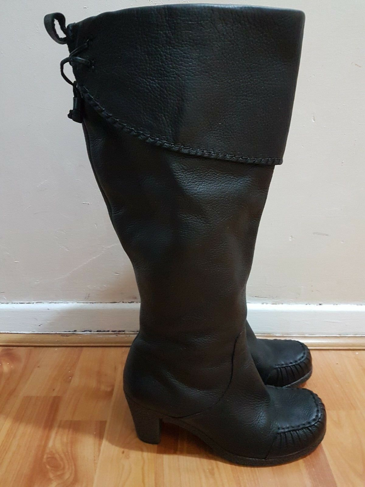 Clarks noir bottes Mid height UK 5
