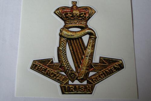 "2 X  THE ROYAL IRISH REGIMENT  STICKERS  4/"" BRITISH ARMY USA  MILITARY INSIGNIA"