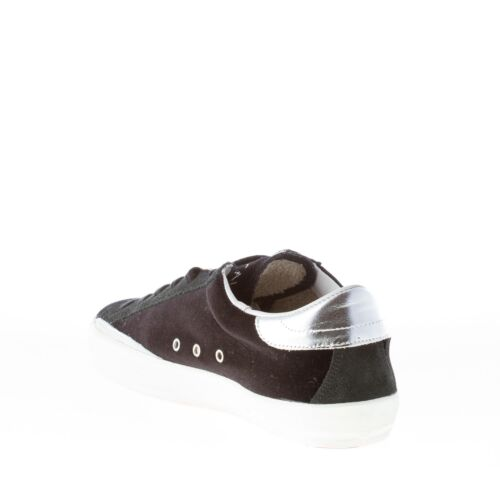 Sneaker 1227 Shoes Ishikawa Low Silver Chaussures With Femme Black Star Velvet wW4Rf0gq4