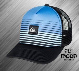Image is loading New-Quiksilver-Stripe-Block-Trucker-Snapback-Cap-Hat dd100c7ef7e