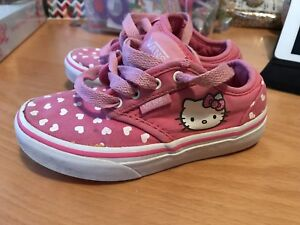 Kitty Hearts Chaussures Hello Vans 10 Rose Lacets Enfants Uk EqtZxgBw