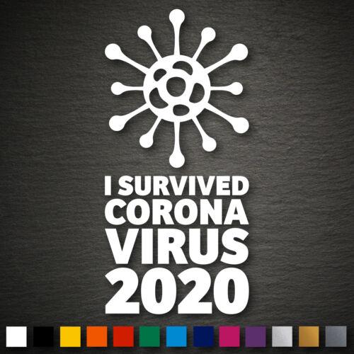 20404 Corona Aufkleber 95x200mm Farbwahl Grippe Seuche Pandemie