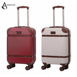 Aerolite-Retro-Vintage-ABS-Hard-Shell-Hand-Luggage-Cabin-Bag-Mixed-Colour-Set