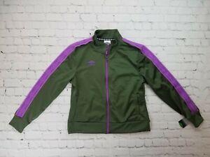 NWT-Umbro-Women-039-s-Jacket-Activewear-Long-Sleeve-Green-Purple-Large-W-Tag-039-s