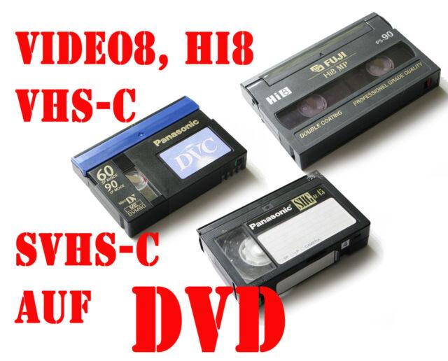 10 Analog video Hi8, - Video8 /D8 VHS-C digitalisieren auf DVD #