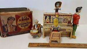 1945-UNIQUE-ART-L-039-il-Abner-amp-Dogpatch-Band-w-Box-Working-Excellent-Condition