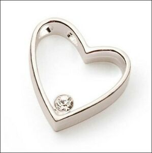 Silver-Plate-Heart-with-Rhinestone-and-Silver-Plate-Chain