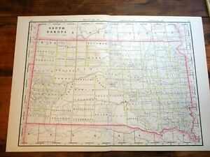 "22/"" x 24/"" 1898 Map of Codington County South Dakota"