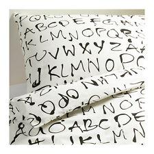 IKEA EIVOR ORD Alfabeto Letto King Size copripiumino con 4 Federe